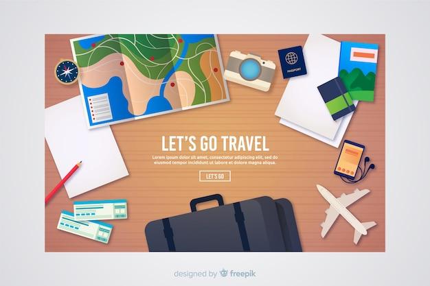 Página de destino de viagens