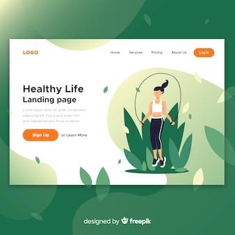 Página de destino de vida saudável