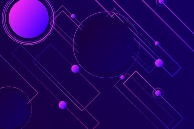 Página de destino digital 3d cores de néon violeta escuro