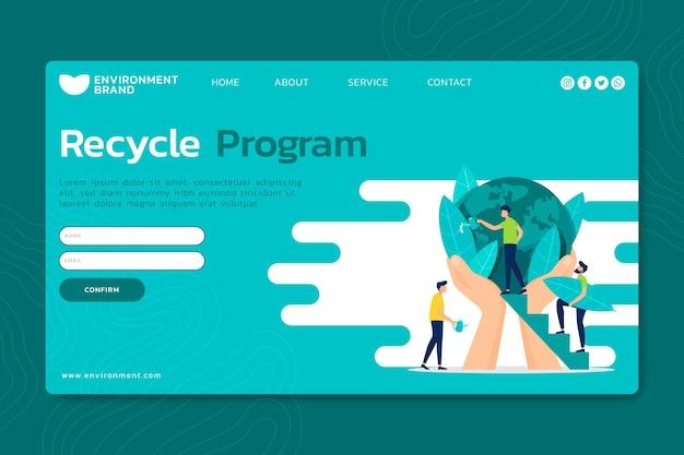 Página de destino do ambiente ambiental