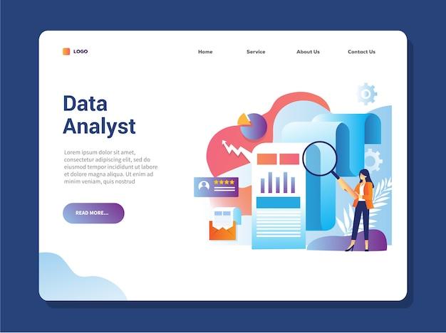 Página de destino do analista de dados