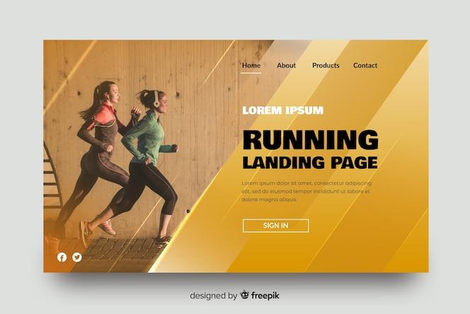 Página de destino do atletismo esportivo