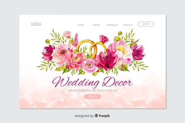 Página de destino do casamento