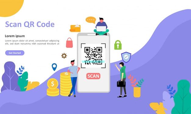 Página de destino do código qr