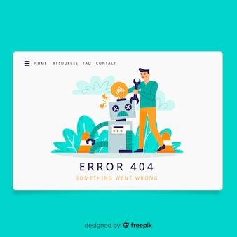 Página de destino do conceito de erro 404
