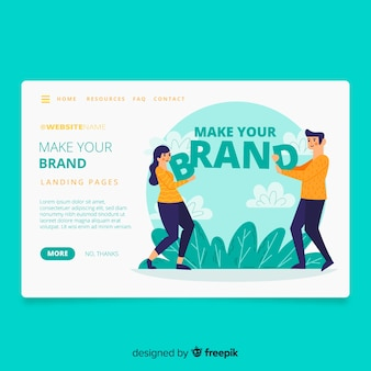 Página de destino do conceito de marca