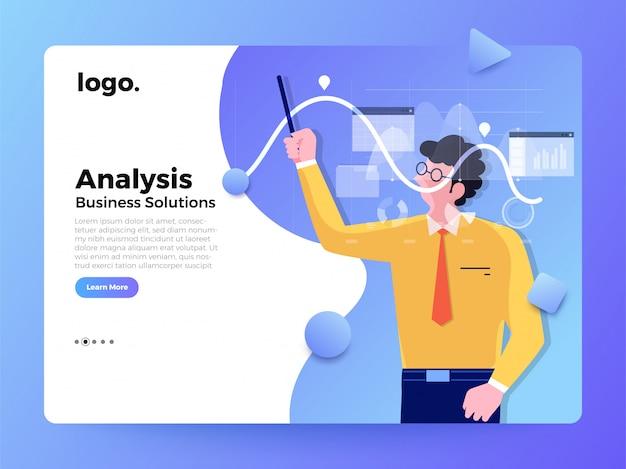 Página de destino do conceito de trabalhador de ilustrações