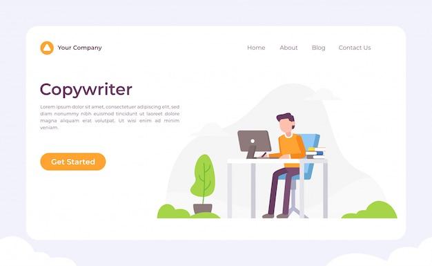 Página de destino do copywriter