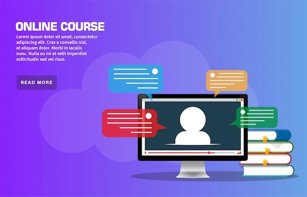 Página de destino do curso on-line