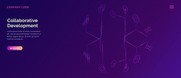 Página de destino do desenvolvimento colaborativo