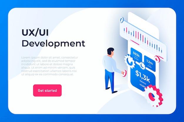 Página de destino do desenvolvimento da interface do usuário ux