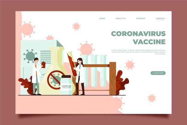 Página de destino do desenvolvimento da vacina contra o coronavírus