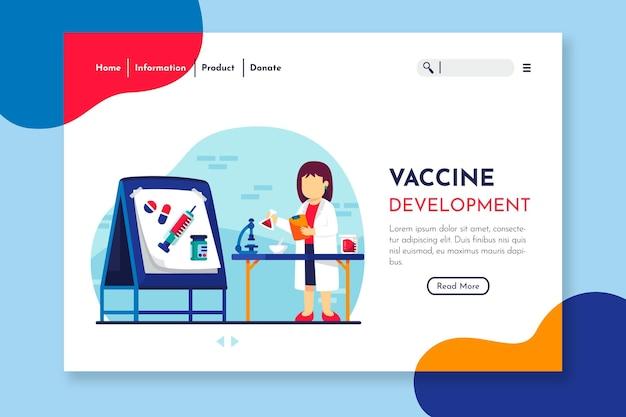 Página de destino do desenvolvimento da vacina