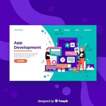 Página de destino do desenvolvimento de aplicativos