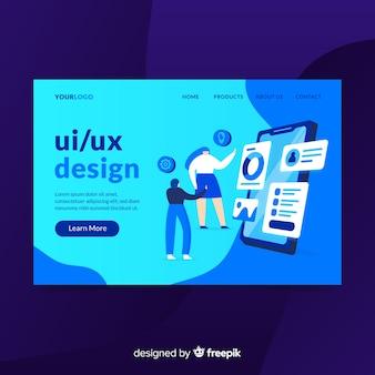 Página de destino do design ui / ux