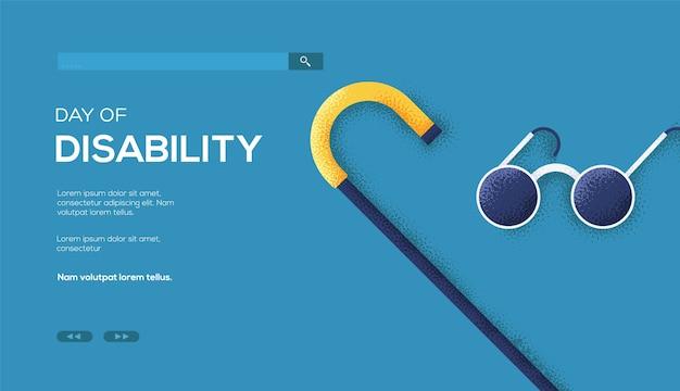 Página de destino do dia da deficiência