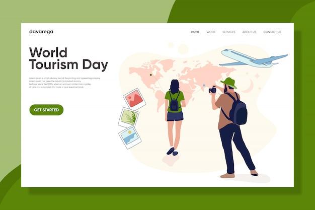Página de destino do dia mundial do turismo