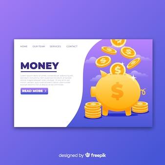 Página de destino do dinheiro