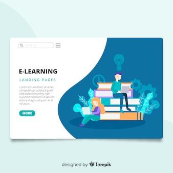 Página de destino do e-learning