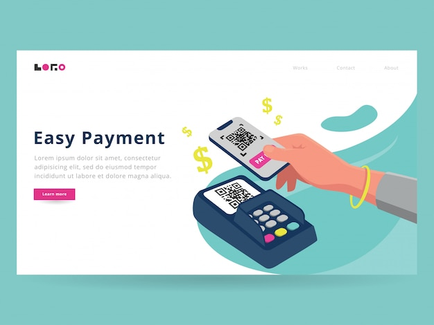 Página de destino do easy payment