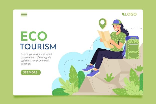 Página de destino do ecoturismo