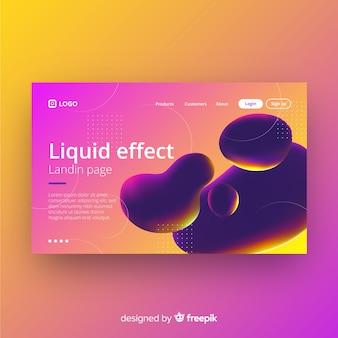 Página de destino do efeito líquido