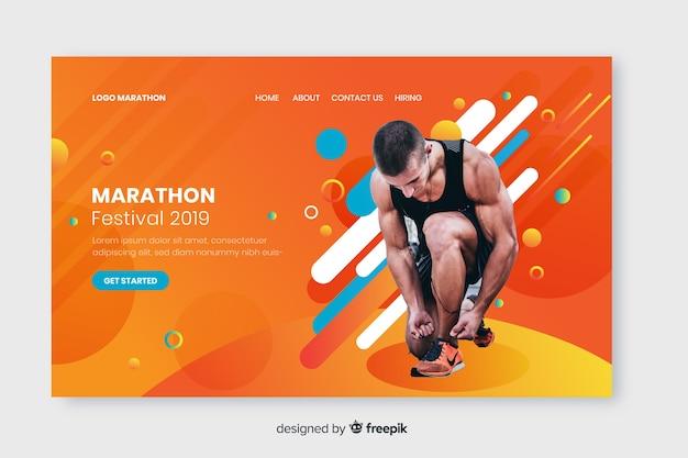 Página de destino do esporte da maratona