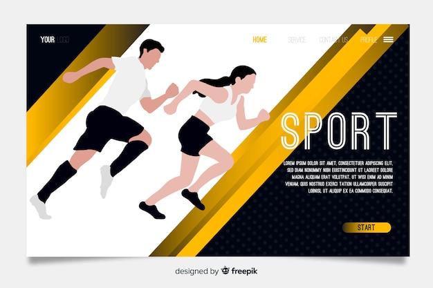 Página de destino do esporte de modelo