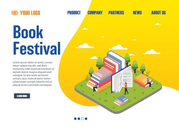 Página de destino do festival de livros