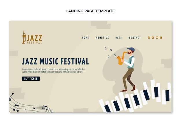 Página de destino do festival de música minimalista plana
