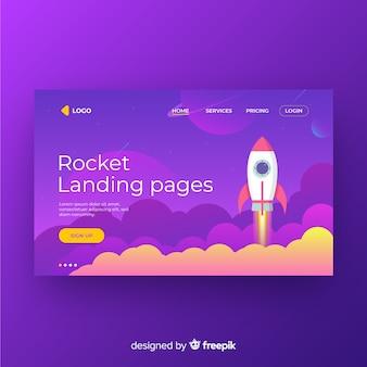 Página de destino do foguete