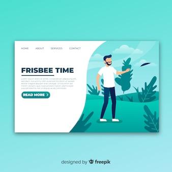 Página de destino do frisbee
