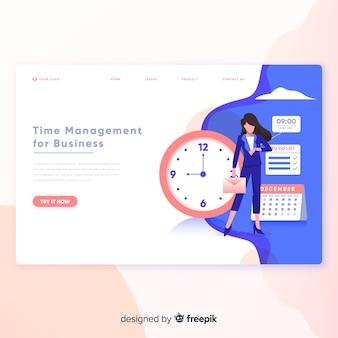 Página de destino do gerenciamento de tempo