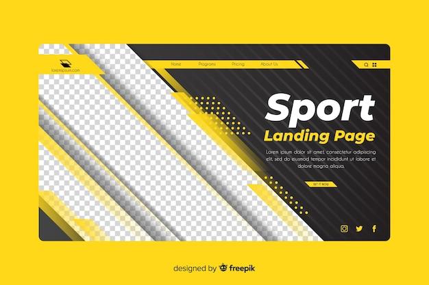 Página de destino do ginásio de esporte