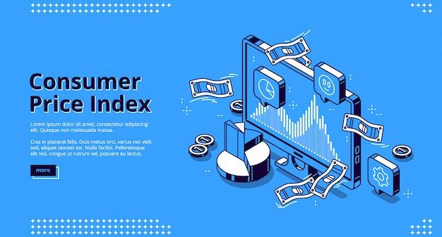 Página de destino do índice de preços ao consumidor