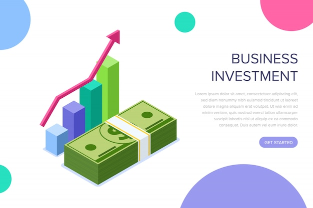 Página de destino do investimento comercial
