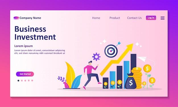 Página de destino do investimento empresarial