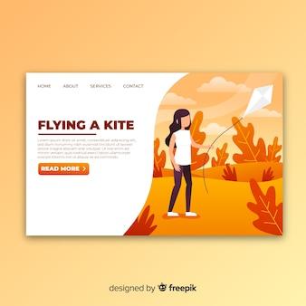 Página de destino do kite