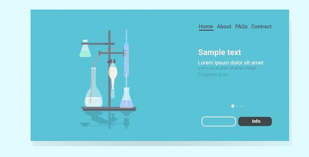 Página de destino do laboratório médico profissional