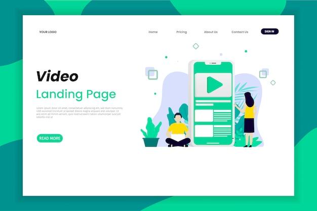 Página de destino do marketing de conteúdo