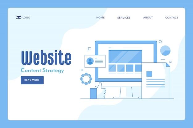 Página de destino do marketing do site