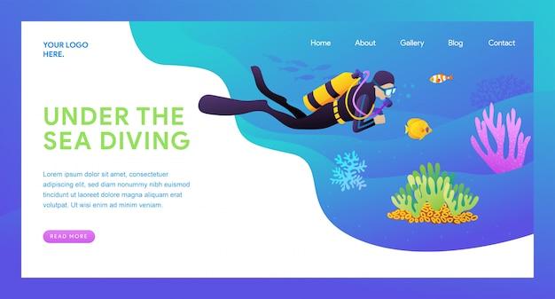 Página de destino do mergulho