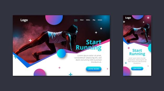 Página de destino do modelo da web para inspiração