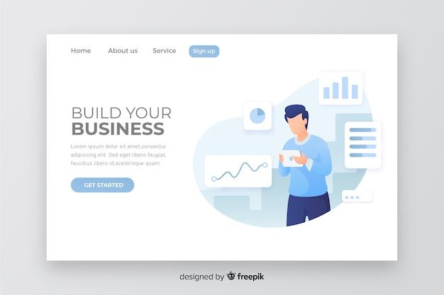 Página de destino do negócio corporativo