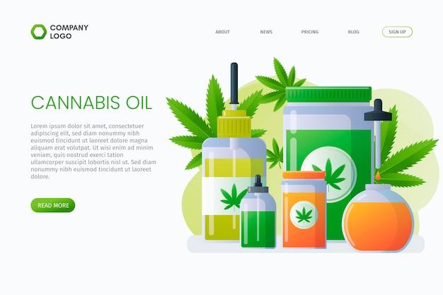 Página de destino do óleo de cannabis