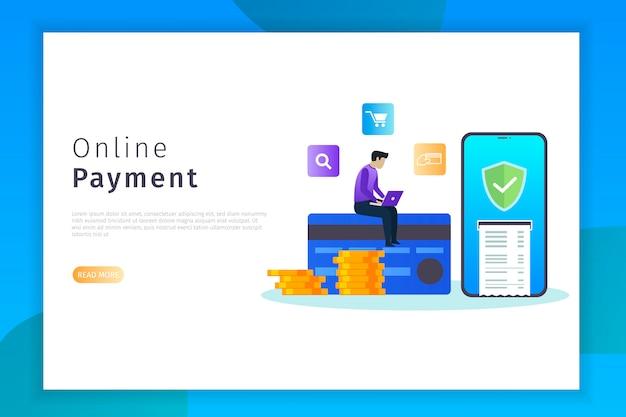 Página de destino do pagamento on-line