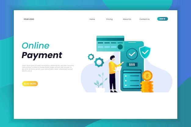 Página de destino do pagamento online