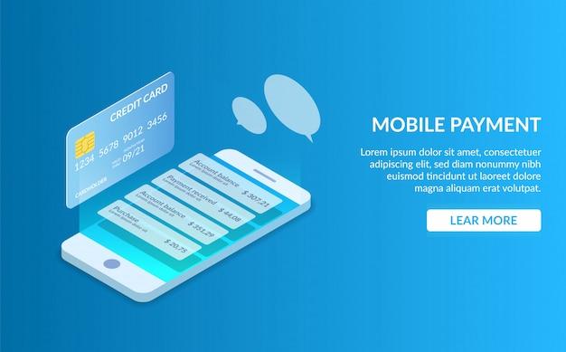 Página de destino do pagamento para celular