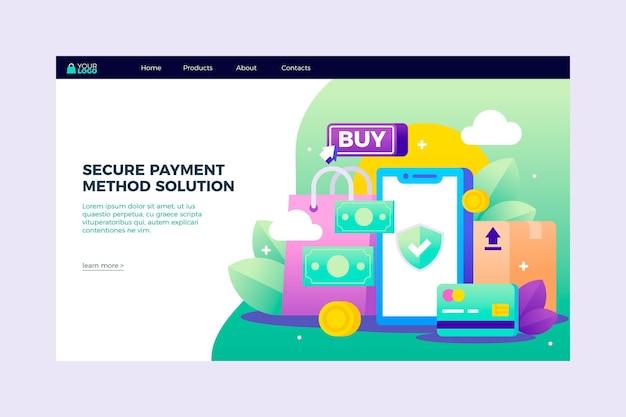 Página de destino do pagamento seguro