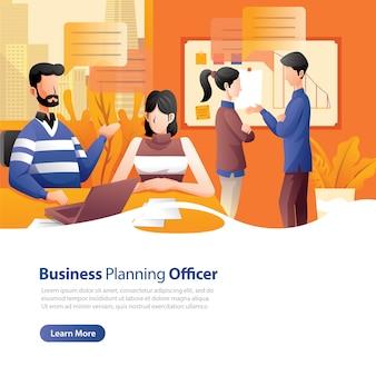 Página de destino do planejamento de negócios